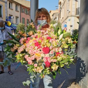 bouquet rond romantique XXXL